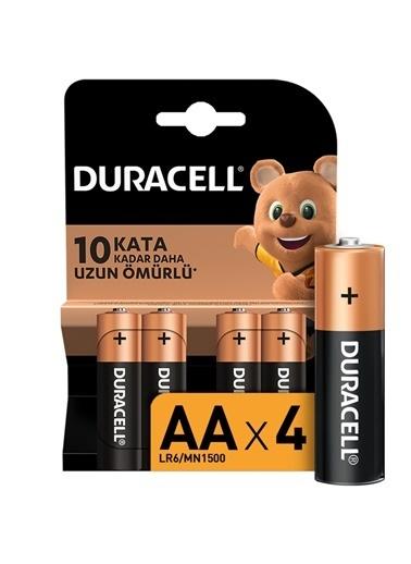 Duracell Duracell Dayanıklı 4'Lü Alkaline Aa 1,5V Pil Renkli